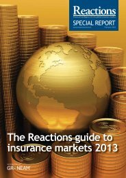 The Reactions guide to insurance markets 2013