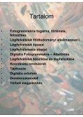 GEOINFORMATIKA ALAPJAI Légifelvételek - fotogrammetria - Page 3