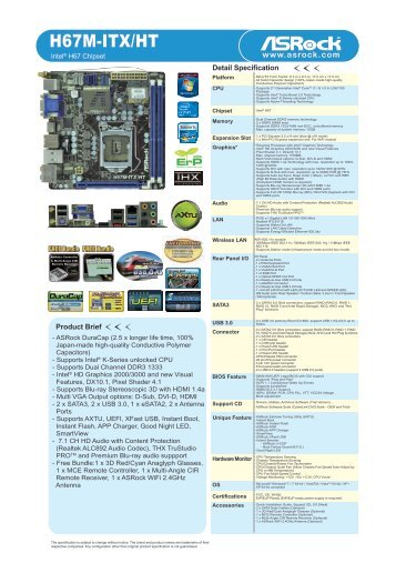 ASRock B75TM-ITX Intel Rapid Start Driver Windows 7
