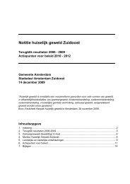 Aanpak huiselijk geweld Zuidoost2010-2012.pdf - Stadsdeel ...