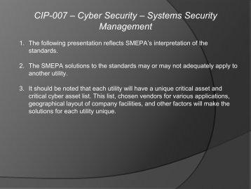 CIP-007 - SERC Home Page