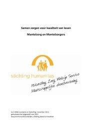 Samen zorgen voor kwaliteit van leven Mantelzorg en Mantelzorgers