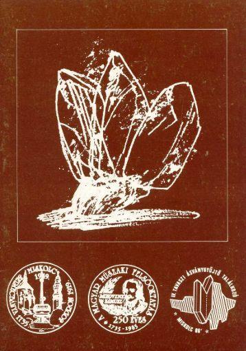 mf1986.pdf - Herman Ottó Múzeum Ásványtára