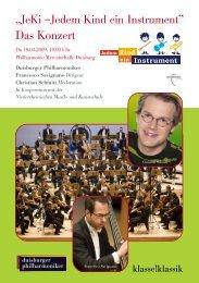 Das Konzert - Jedem Kind ein Instrument