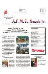 September 2009 AFMS Newsletter - American Federation of ...