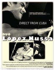 Harold Lopez-Nussa Duo - Ted Kurland Associates