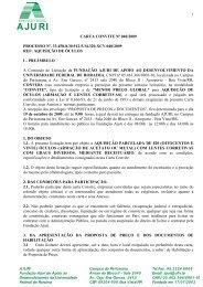 CARTA CONVITE Nº 040/2009 PROCESSO Nº. 33.458-8.30.912 ...