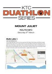 Route Info - KTC Duathlon Mount Juliet