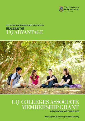 Information and Guidelines - University of Queensland