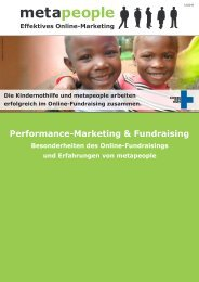 Performance-Marketing & Fundraising - metapeople GmbH