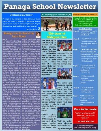 November December 2010 - Panaga School