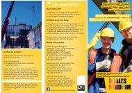 Infoflyer Duales Studium Bauingenieurwesen / Bauwerksmechaniker