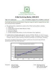 E-Mail Archiving Market, 2008-2012 - The Radicati Group, Inc.