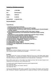 Protokoll zur Mitgliederversammlung Datum: 17.05.2006 Ort ...