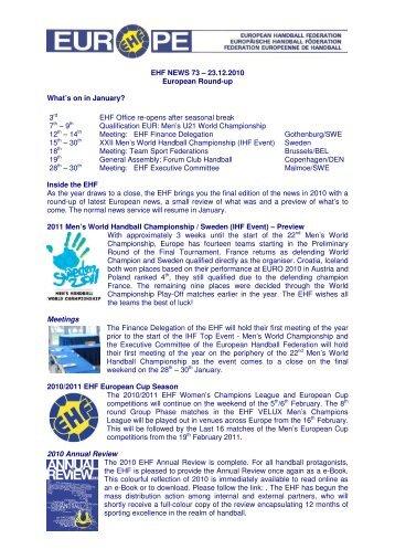 European Round-Up_2312e - European Handball Federation