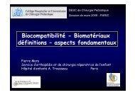 Bio-matériaux - SOFOP