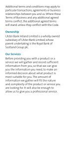 Terms of Business - Ulster Bank - Page 3