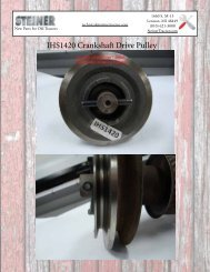 PTO Clutch Repair Video Tip Sheet - Steiner Tractor Parts