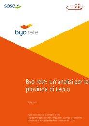 Byo rete Un'analisi per la provincia di Lecco - Unioncamere ...