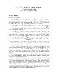 SYARIAT ISLAM DAN KERUKUNAN UMAT ... - Kemenag Sumsel