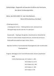 Epidemiologie , Diagnostik und operative Verfahren der Karzinome ...