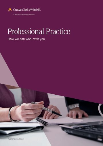 Professional Practices brochure - Crowe Horwath International