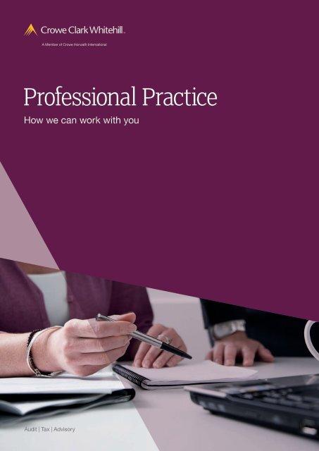 Professional Practices brochure - Crowe Horwath International