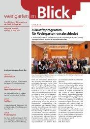 Ausgabe 14/2013 - Weingarten im Blick