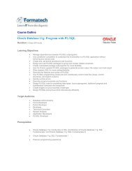 Oracle Database 11g: Program with PL/SQL - Formatech