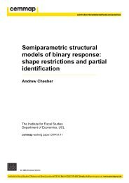 Semiparametric structural models of binary response ... - Cemmap