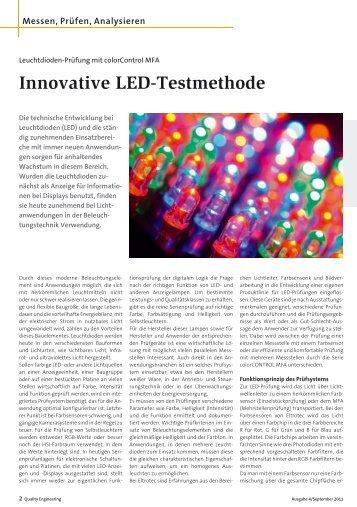 Innovative LED-Testmethode