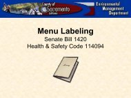 Menu Labeling Senate Bill 1420
