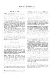 Petunjuk Bagi Penulis - Pustaka Deptan