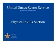 United States Secret Service Physical Skills Section