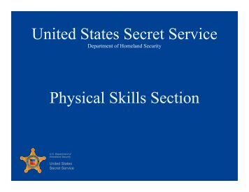 United States Secret Service Physical Skills Section