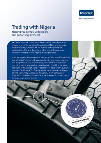 Trading with Nigeria - Intertek