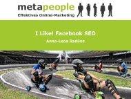 I Like! Facebook SEO - metapeople GmbH