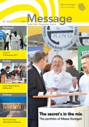 Message issue 2/2011 - Messe Stuttgart