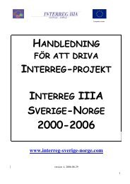 Handledning för att driva Interreg-projekt - Interreg Sverige Norge