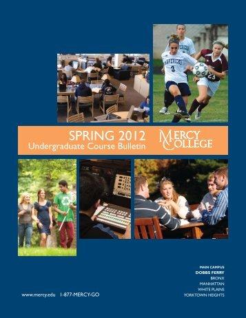 Spring 2012 Undergraduate Course Bulletin - Mercy College