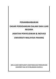 dasar persidangan di dalam dan luar negara - Universiti Malaysia ...