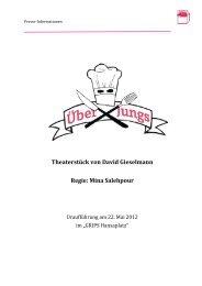 Neue Pressemappe zu ÜBER JUNGS - GRIPS Theater