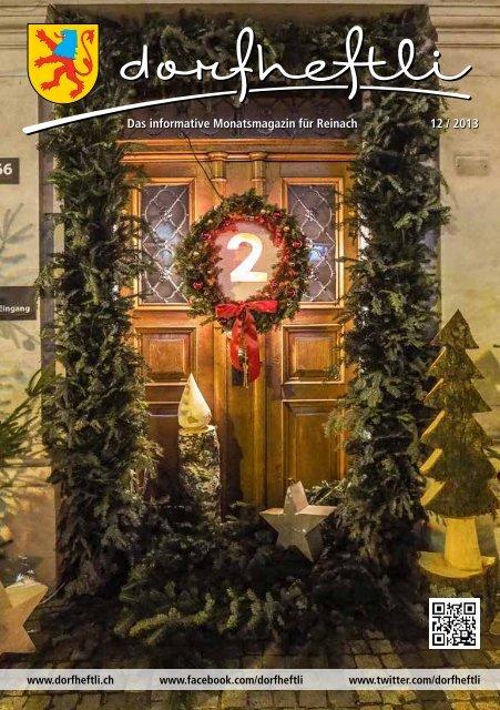 Das informative Monatsmagazin für Reinach 12 / 2013 - dorfheftli