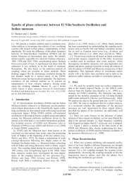 Epochs of phase coherence between El Niño/Southern Oscillation ...