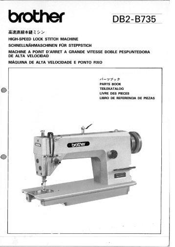 Brother db2 B735 manual
