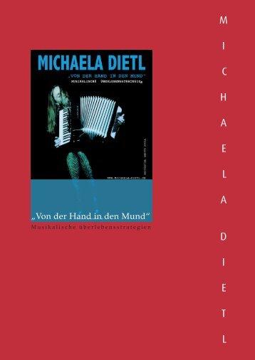 Kritiken Pdf CD Biografie Kontakt Pressetext ... - Michaela Dietl