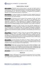 RESOLUCION No - Bienvenidos al Portal IPv6 Cuba
