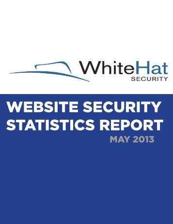 WEBSITE SECURITY STATISTICS REPORT - WhiteHat Security