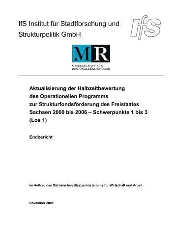 Endbericht EFRE [Download,*.pdf, 0,60 MB] - Strukturfonds in ...