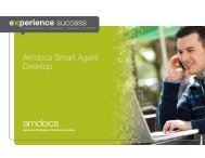 Amdocs Smart Agent Desktop